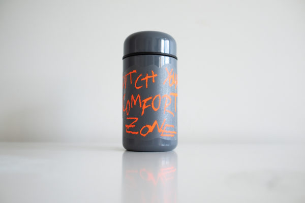 Ditch Your Comfort Zone vinyl sticker waterproof by Fabi Aguilar surf tribal illustration Steel Bottle