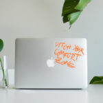 Ditch Your Comfort Zone vinyl sticker waterproof by Fabi Aguilar surf tribal illustration laptop