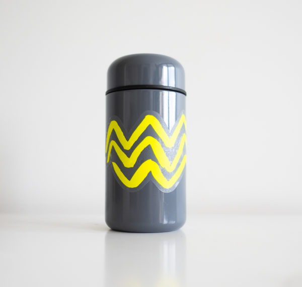 Wave vinyl sticker waterproof by Fabi Aguilar surf tribal illustration steel bottle