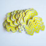 Wave vinyl sticker waterproof by Fabi Aguilar surf tribal illustration stickers