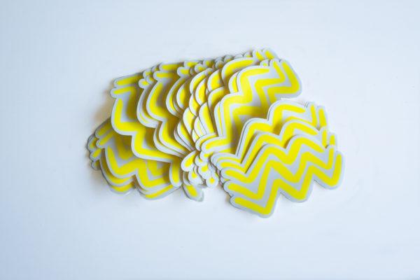 Wave vinyl sticker waterproof by Fabi Aguilar surf tribal illustration