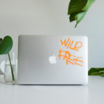 Wild Free vinyl sticker waterproof by Fabi Aguilar surf tribal illustration laptop